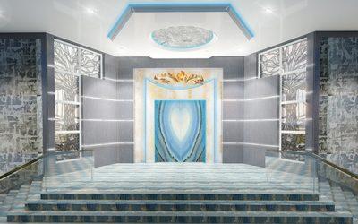 Perla Lichi Designs Chabad of Parkland Interiors