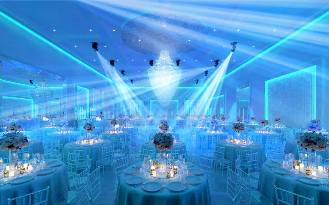 Custom Design Lights Up Social Hall