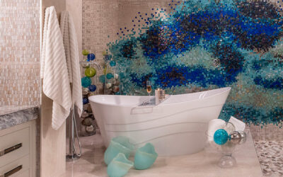 The master suite and bathroom renovation becomes a piece of art